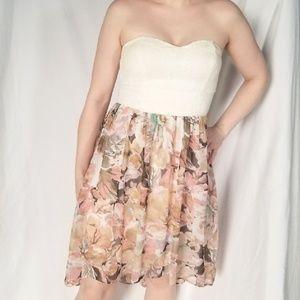 Floral & Lace High-Low Dress